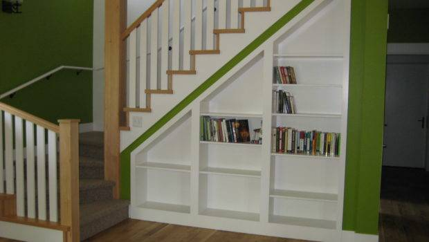Sneaking Some Books Into Our Built Shelves Under Stairs