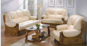 Sofa Set Made Shishum Wood Top Glass Table