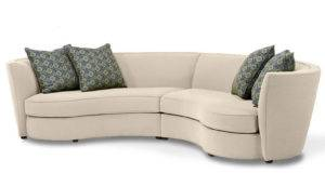 Sofas Sectionals Fabric Sectional Custom Curved Shape