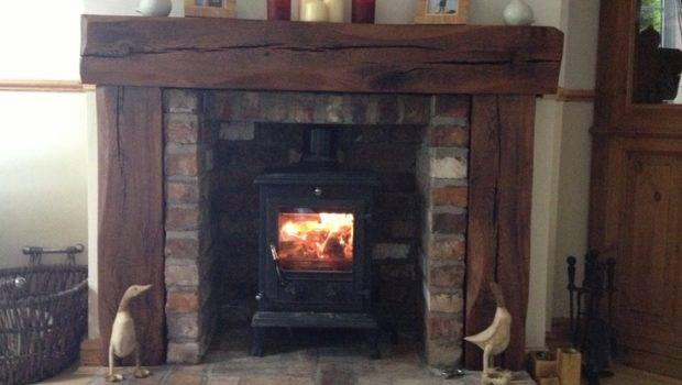 Solid Aged French Oak Wood Fireplace Rustic Fire Surround Place