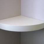 Solid Corner Wall Mount Shelf White