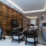 Solid Wood Wall Design Living Room