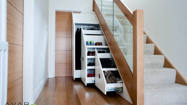 Some Items Store Under Stair Storage Place