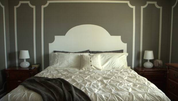 Someday Crafts Painted Wall Headboard Molding