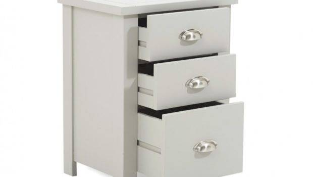Somerset Grey Tall Drawer Bedside Table Great Furniture