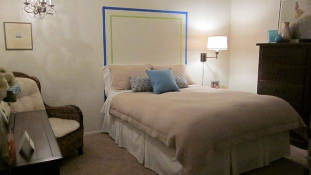 Something Creative Daily Headboard Painted Wall Project