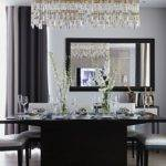 Sophisticated Dining Room Black Gray Design London