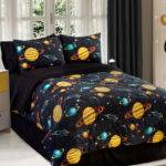Space Galaxy Kids Comforter Set Boys Children Bedroom