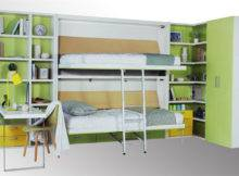 Space Saving Wooden Modern Bunk Wall Bed Kids Student