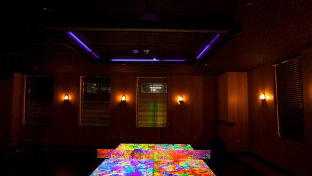 Spin Standard Reveals Glow Dark Ping Pong Table