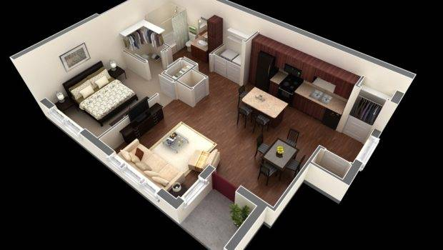 Springs Apartments Contemporary One Bedroom Apartment Has Small