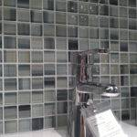 Square Glass Shower Tile Cove Finishings Hand Painted Mosaic Tiles