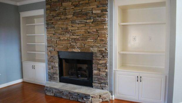 Stacked Stone Fireplace Designed Built Audio System