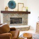 Stacked Stone Fireplace Home Interior Design