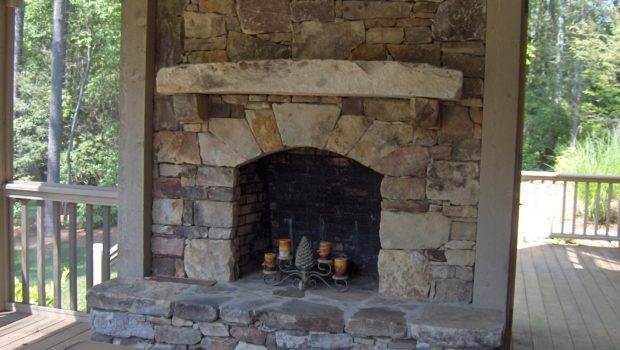 Stacked Stone Fireplace Home Pinterest