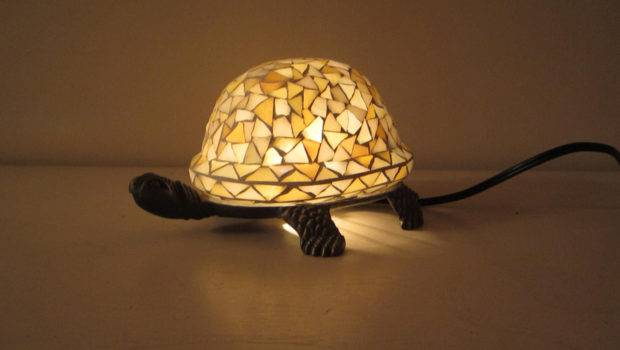 Stained Glass Turtle Table Lamp Night Light Lilythelamplady