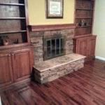 Startling Stone Veneer Fireplace Decorating Ideas