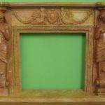 Statuary Carved Design Marble Fireplace Travertine