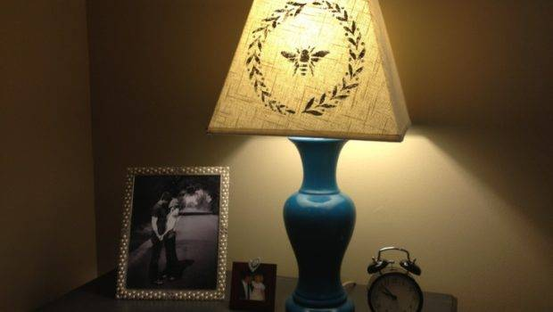 Stenciled Lamp Shade Get Creative Pinterest
