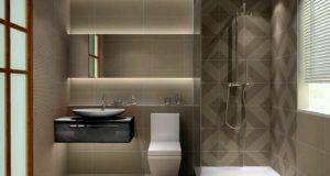 Steps Follow Wonderful Modern Bathroom Design