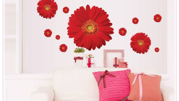 Stickers Home Decoration Removable Pvc Beautiful Flower Decals