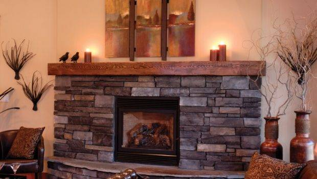 Stone Contemporary Hearth Vaulted Freestanding Fireplace