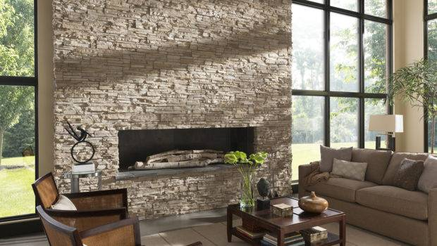 Stone Fireplace Design Meant Complement Entire Room