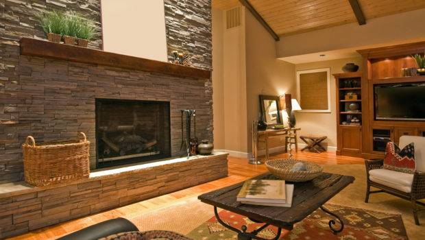 Stone Fireplace Design Touch Modern