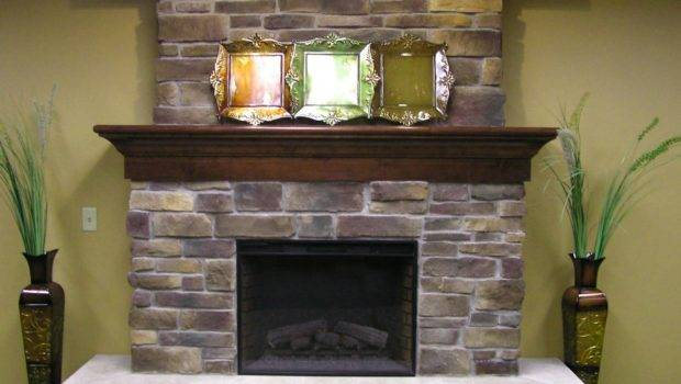 Stone Fireplace Mantel Decorating Ideas