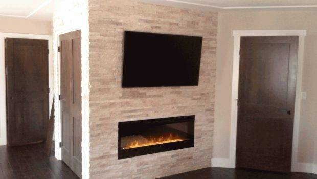 Stone Fireplace Wall Designer Fireplaces Gas Design