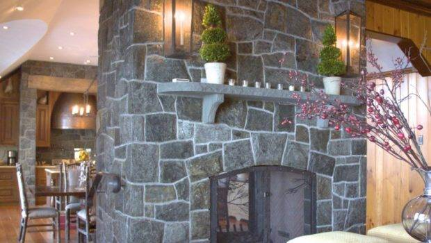 Stone Fireplace Wall Ideas Design