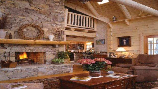 Stone Fireplaces Build Rustic Stucco Fireplace