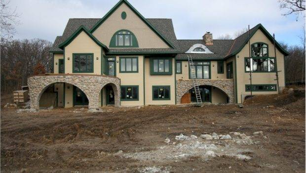 Stone Front Houses Custom Home Arches