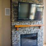 Stone Veneer Diy Fireplace Your Self