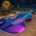 Strange Swimming Pools Amazing Guitar Shaped Pool Great Night