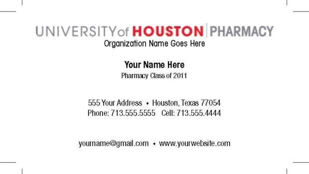 Student Business Card Template Cyberuse