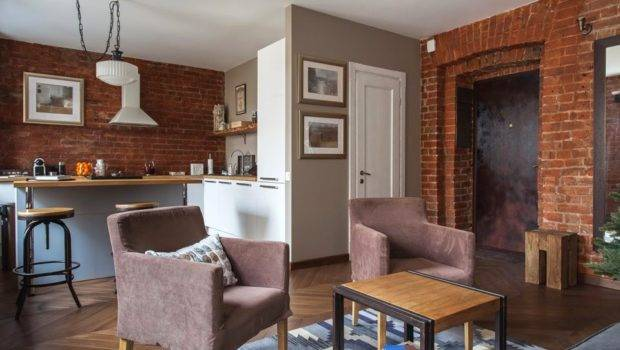 Studio Apartment Stays Authentic Keeping Its Brick
