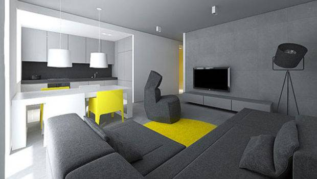 Studio Flat Design Ideas Modern Small Interior Tamizo