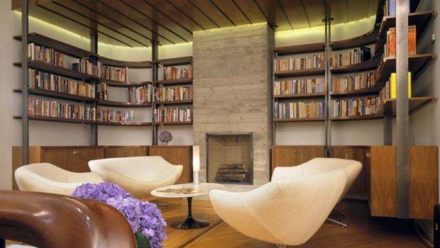 Study Room Designs Awesome Custom Home Library Design Stone Fireplace