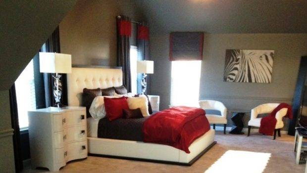 Stunning Red Black White Bedroom Decorating Ideas