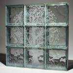 Style Etched Glass Blocks Window Shower Wall Project