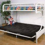 Style White Finish Contemporary Twin Futon Bunk Bed
