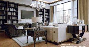 Stylish Art Deco Living Room Interior Design Style Furniture