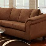 Stylish Chocolate Brown Fabric Contemporary Sectional Sofa
