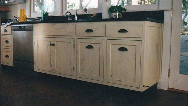 Stylish Kitchen Distressed Cabinets Home Design