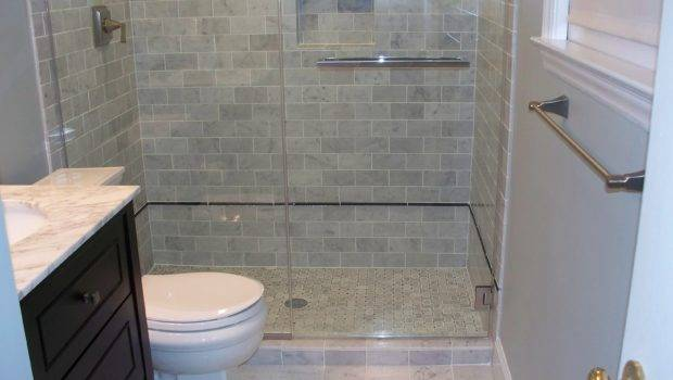 Subway Shower Tile Detailed Floor Home Design Examples