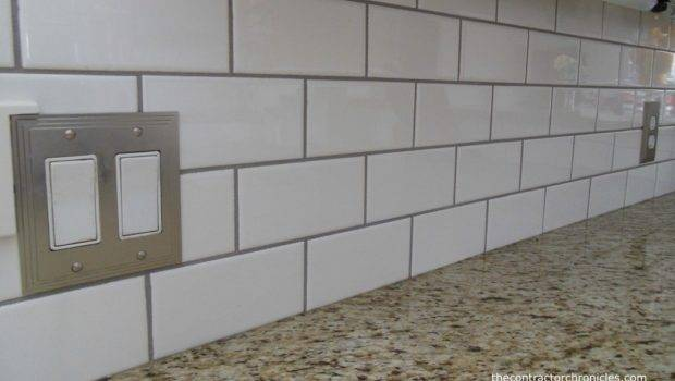 Subway Tile Backsplash White Grout Bing