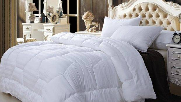 Super Soft White King Cotton Down Filled Comforter