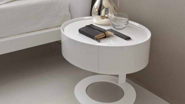 Table Round Accent Tables Skinny Nightstand Glass Bedside Mirror