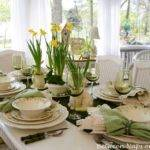 Table Setting Ideas Easter Daffodil